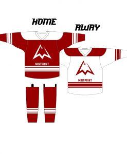 MINTprint hokeja komandu kreklu komplekts ar getram