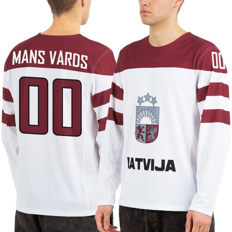 Latvijas hokeja izlases Sochi 2014 izbraukuma spēļu fanu krekls