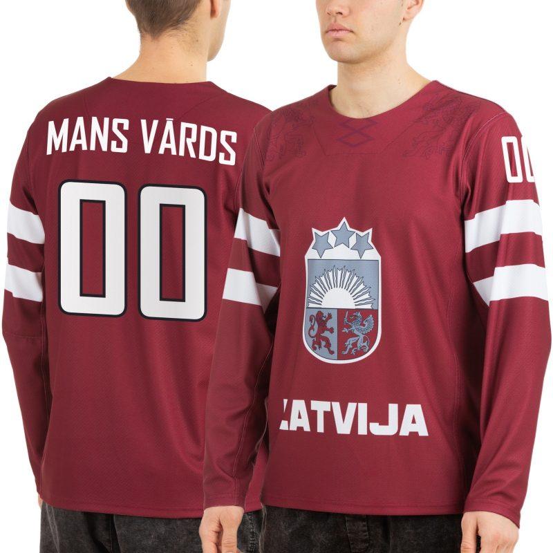 Latvijas hokeja izlases Sochi 2014 mājas spēļu fanu krekls