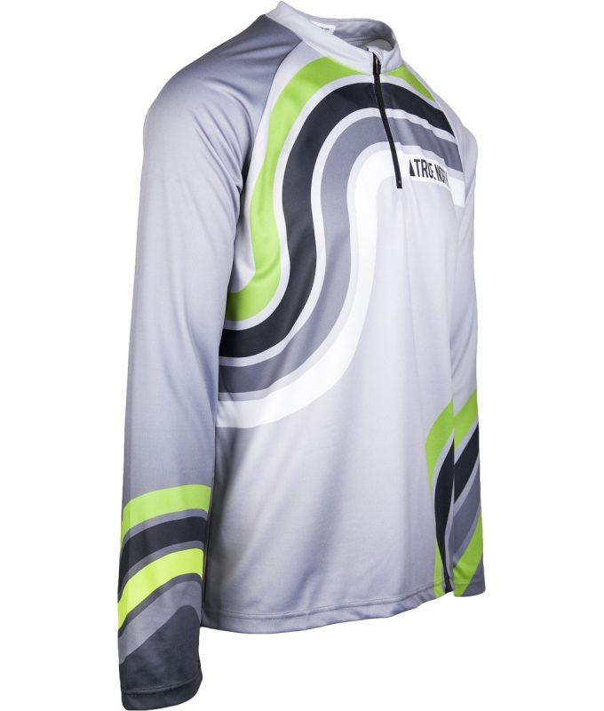 Kērlinga krekls ar garām piedurknēm Mintprint