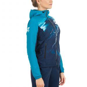 Skriešanas jaka ar kapuci sievietēm apdruka komandas dizains
