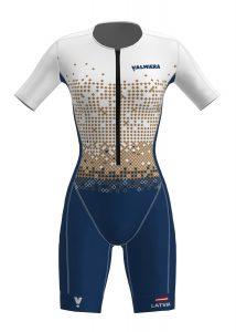 Triatlona tērps komandai izgatavošana ražošana šūšana