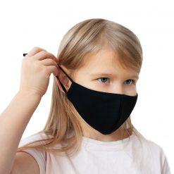 Melnas sejas maskas bērniem ar savilcējiem