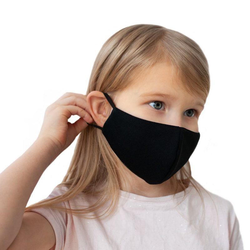 Melnas sejas maskas skolēniem ar savilcējiem