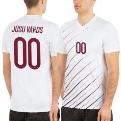 Latvijas Futbola izlases fanu krekls vīriešu izbraukuma balts