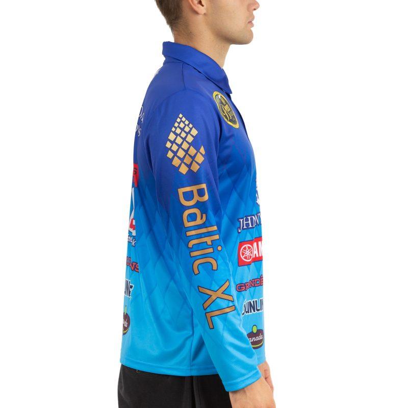 Makšķerēšanas polo krekls ar garām piedurknēm