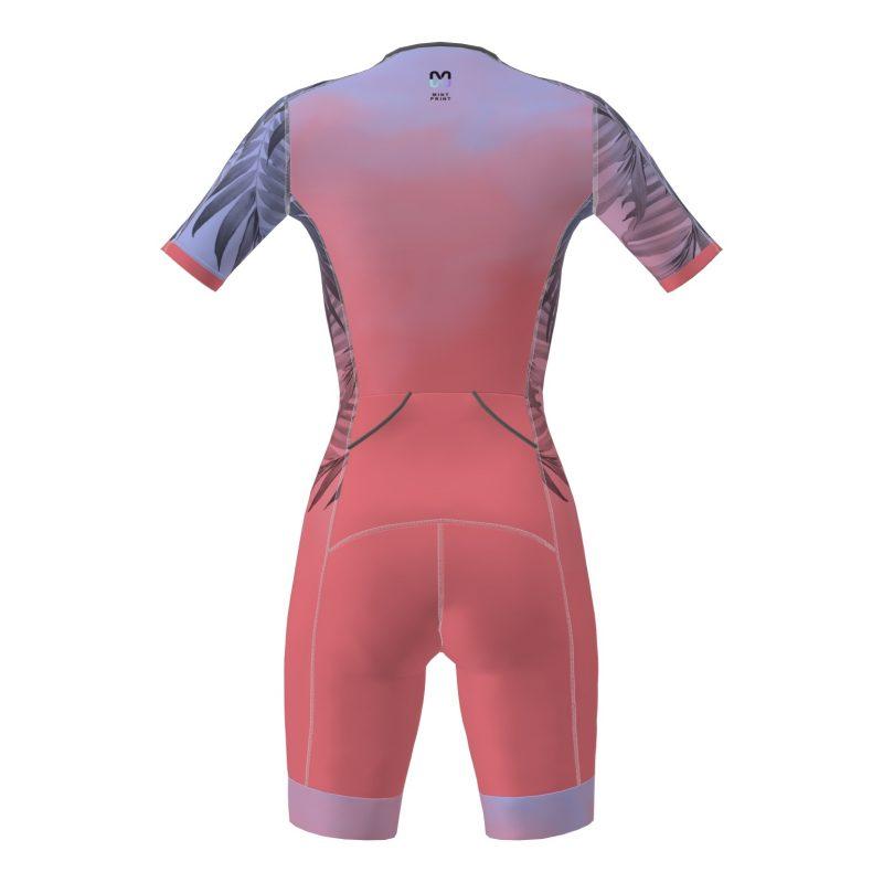 Triatlona garo distanču tērps ar piedurknēm sieviešu