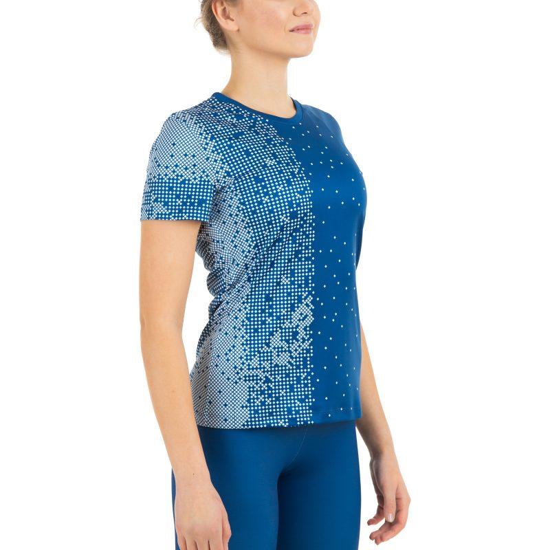 Vieglatlētikas iesildīšanās krekls komandas sieviešu ar apdruku