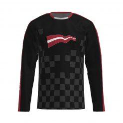 """Krekls ar garām piedruknēm """"Maratona klubs"""""""