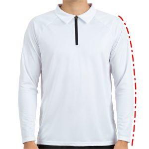 Piemērs polo kreklam ar garām piedurkēm