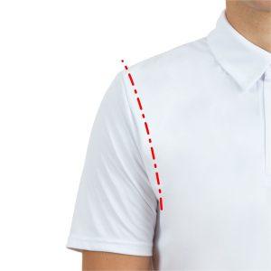Piemērs polo kreklam ar iešūtām piedurknēm
