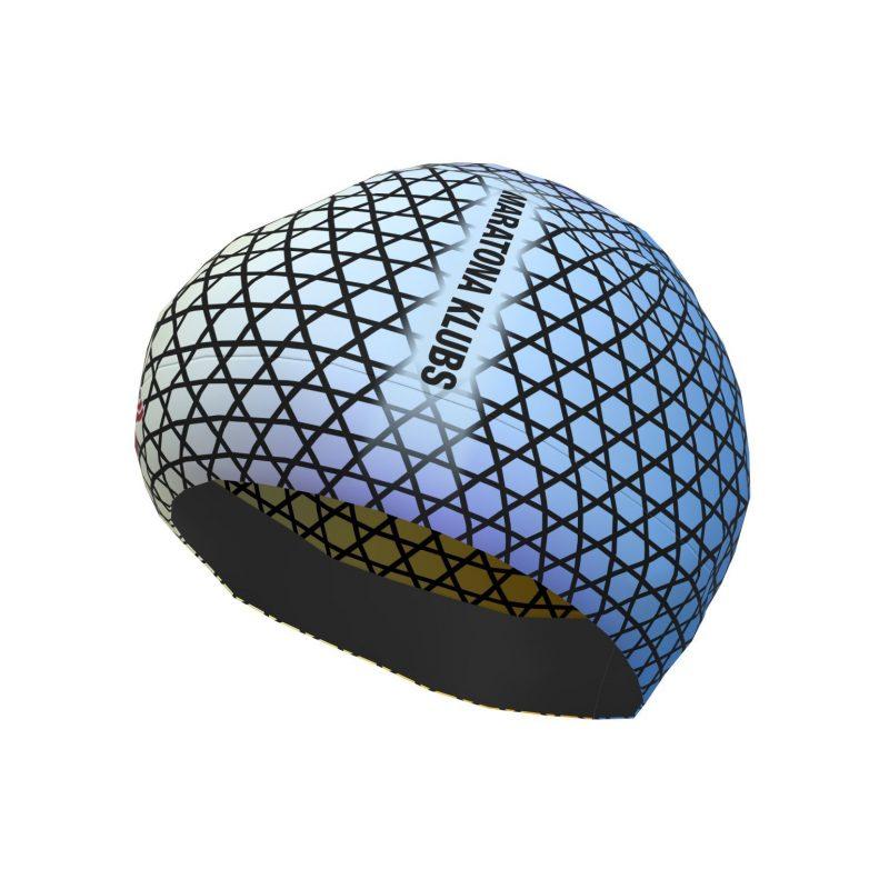 Skriešanas cepure Maratona klubs zila raiba Skriešanas cepure Maratona klubs zila raiba