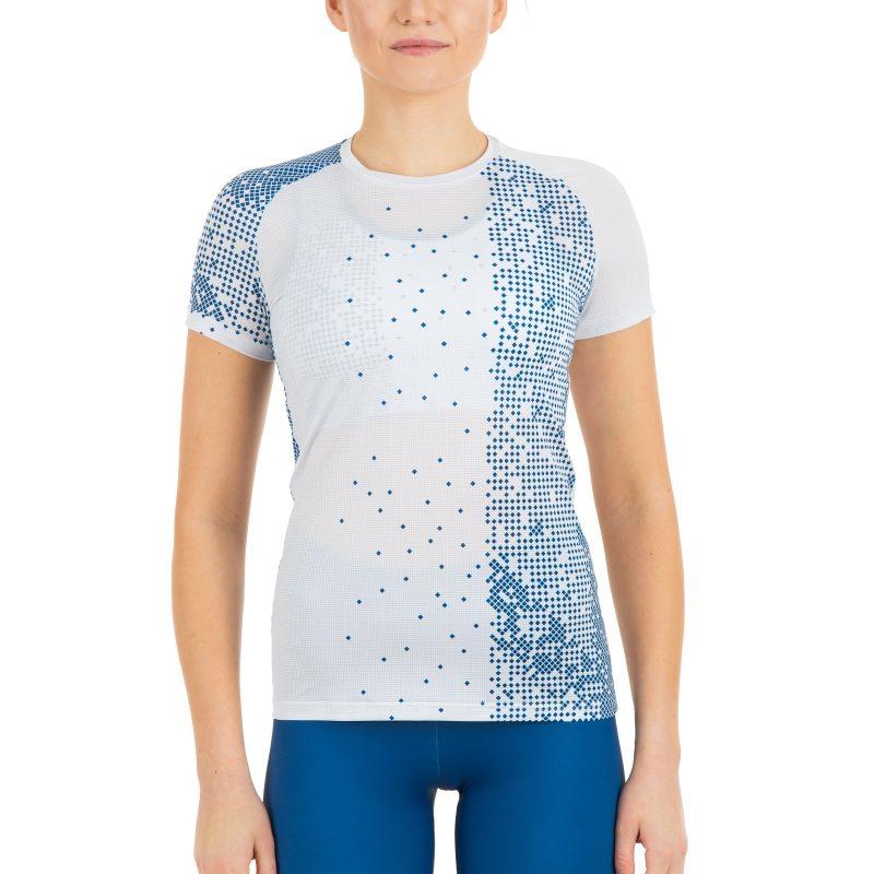 Plāns skriešanas krekls sievietēm ar komandas dizaina apdruku