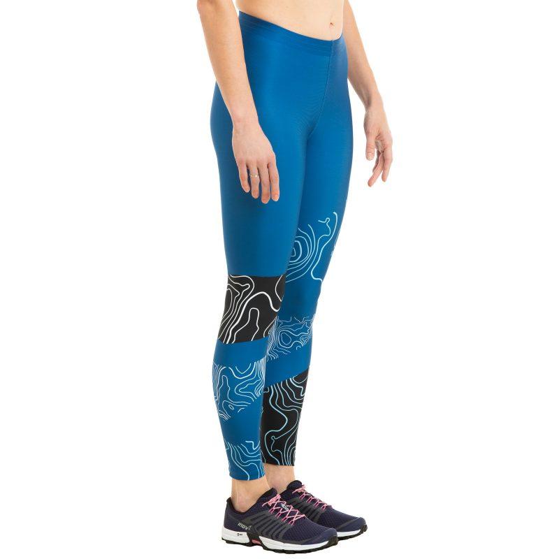 Pieguļošās bikses skriešanas apdruka legingi sieviešu