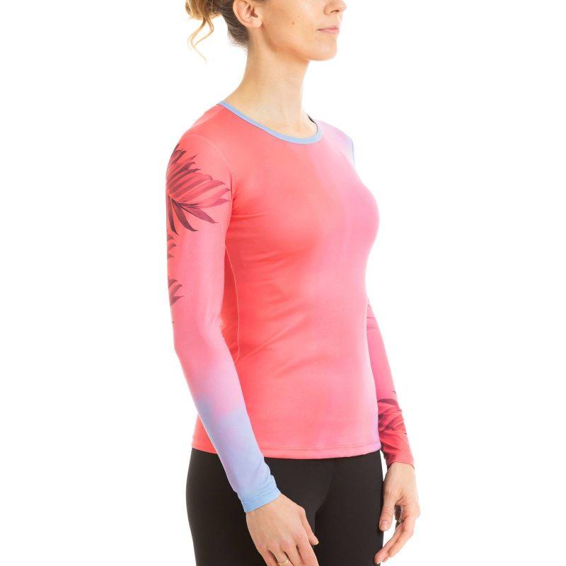 Pieguļošs garo piedurkņu krekls sievietēm