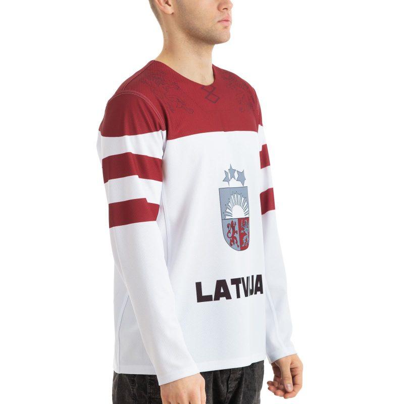 Latvijas Hokeja izlases Soču Olimpisko spēļu fanu krekls balts