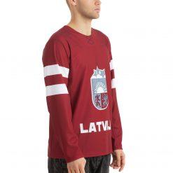 Latvijas Hokeja izlases Soču Olimpisko spēļu fanu krekls sarkans