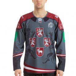 Latvijas Hokeja izlases pārbaudes spēļu fanu forma tumša