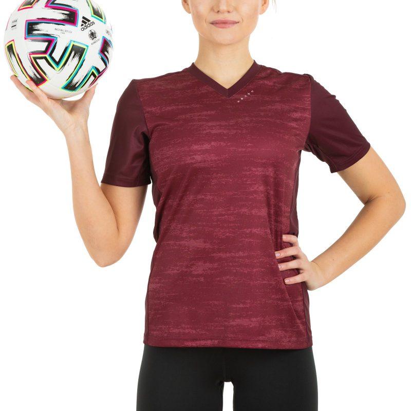 Latvijas futbola izlases fanu krekls sieviešu sarkans