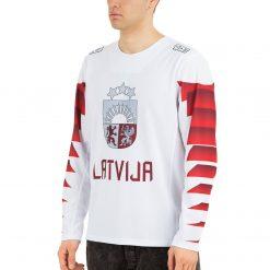 Latvijas hokeja izlases fanu krekls balts
